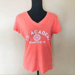 🐘 Coral Orange FBI Academy TShirt